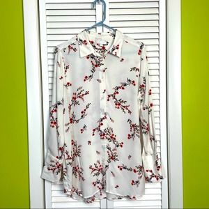 14th & Union NWT button floral shirt size S